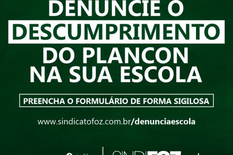 Servidor da Educação: denuncie o descumprimento do Plancon na sua escola