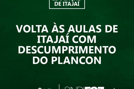 Volta às aulas de Itajaí com descumprimento do Plancon