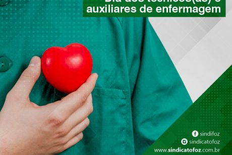 Sindifoz parabeniza técnicos(as) e auxiliares de enfermagem