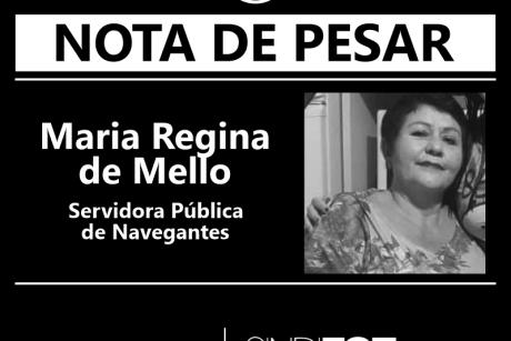 Nota de Pesar: Maria Regina de Mello, servidora de Navegantes
