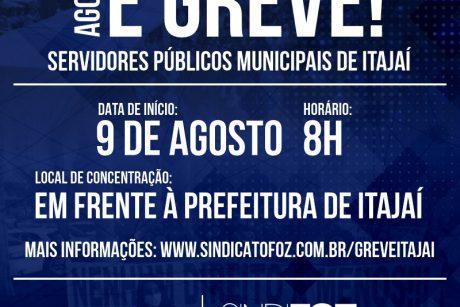 Itajaí: agora é greve!