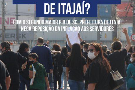Com o segundo maior PIB de SC, prefeitura de Itajaí nega reposição da inflação aos servidores