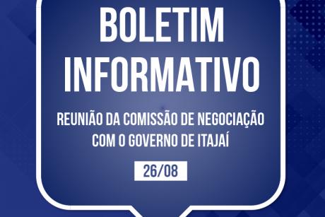 Boletim informativo da reunião da comissão de negociação com o governo de Itajaí