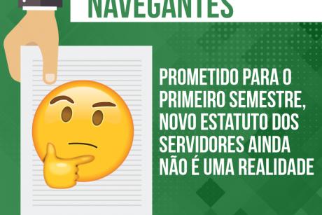 Prometido para o primeiro semestre, novo estatuto dos servidores de Navegantes ainda não é uma realidade
