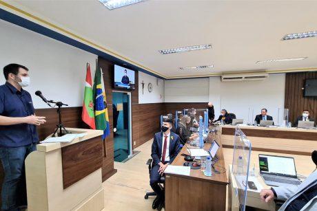 Sindifoz participa de sessão da Câmara de Vereadores de Navegantes