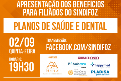 Live sobre planos de saúde e dental nesta quinta-feira