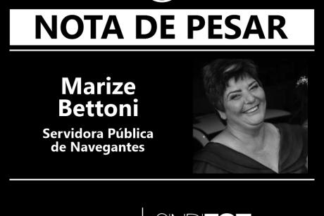 Nota de Pesar: Marize Bettoni, servidora pública de Navegantes