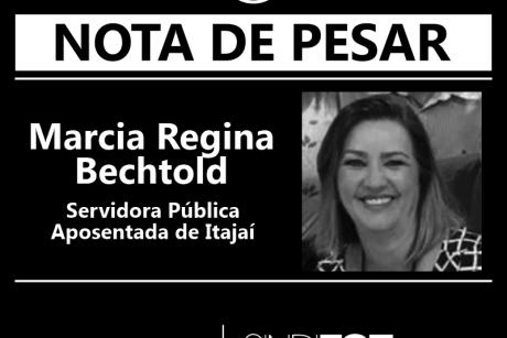 Nota de Pesar: Marcia Regina Bechtold, servidora pública aposentada de Itajaí