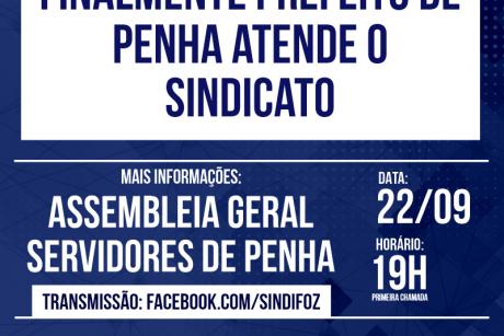 Finalmente prefeito de Penha atende o Sindicato