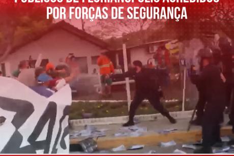 Sindifoz se solidariza com servidores públicos de Florianópolis agredidos por forças de segurança